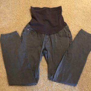 Gray Skinny Maternity Pants